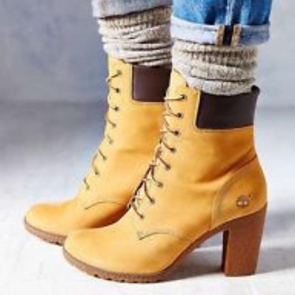 3d0eed5ece73c Timberland Shoes | Nib Glancy Heel Boots | Poshmark